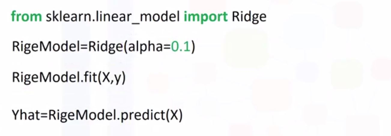 using ridge regression in python
