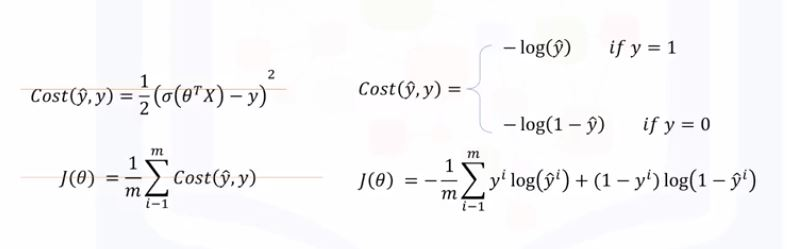 The replaced cost function